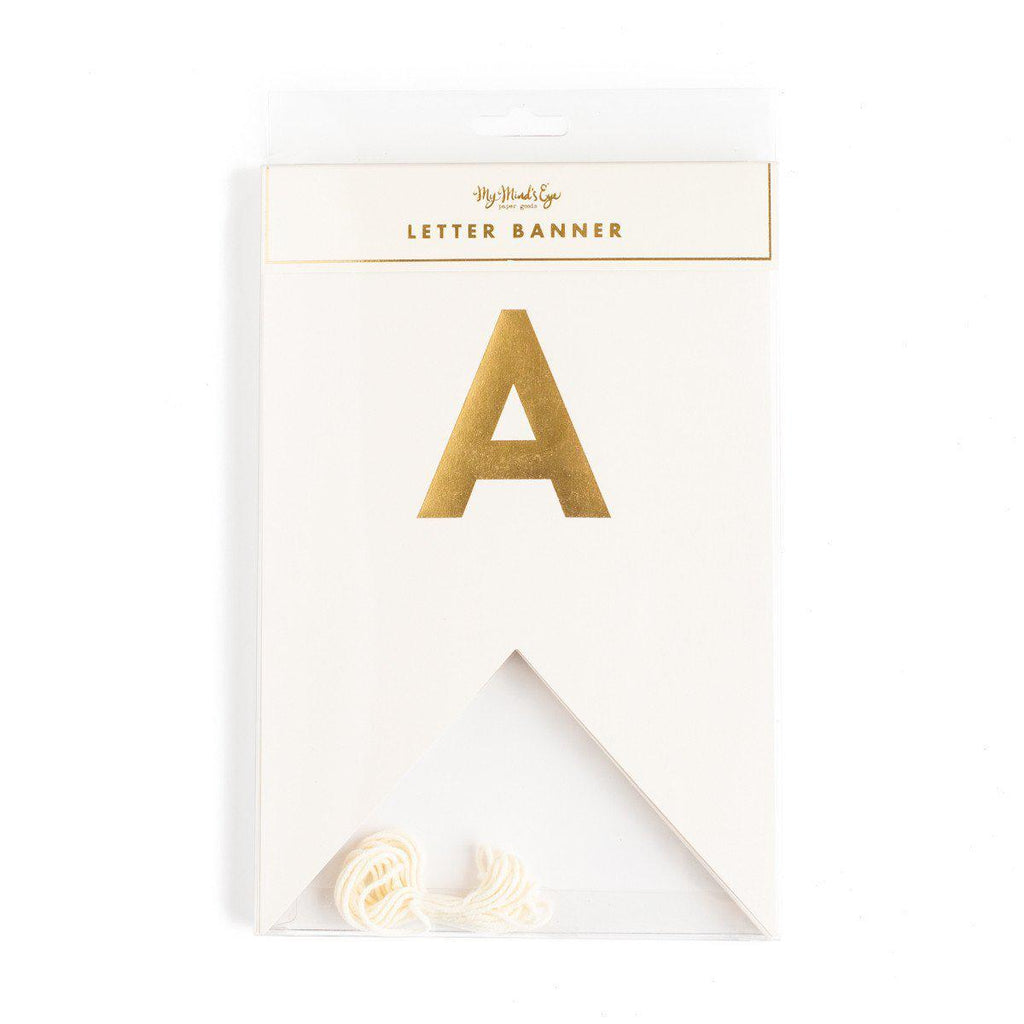 Gold Fancy Letter Banner-Party Love