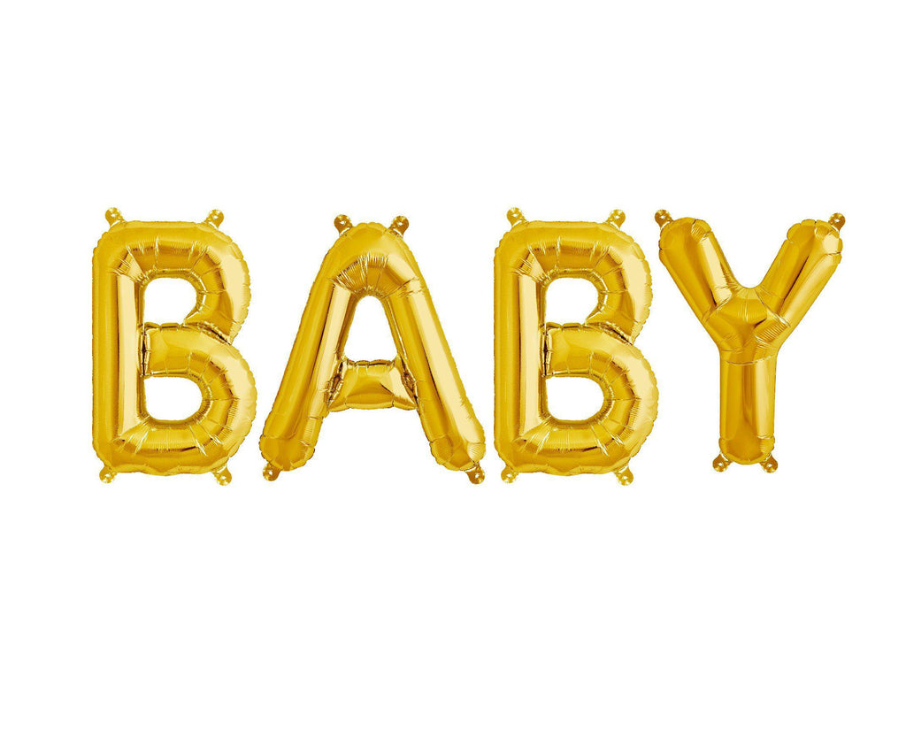 Gold Foil Balloon - Baby-Party Love