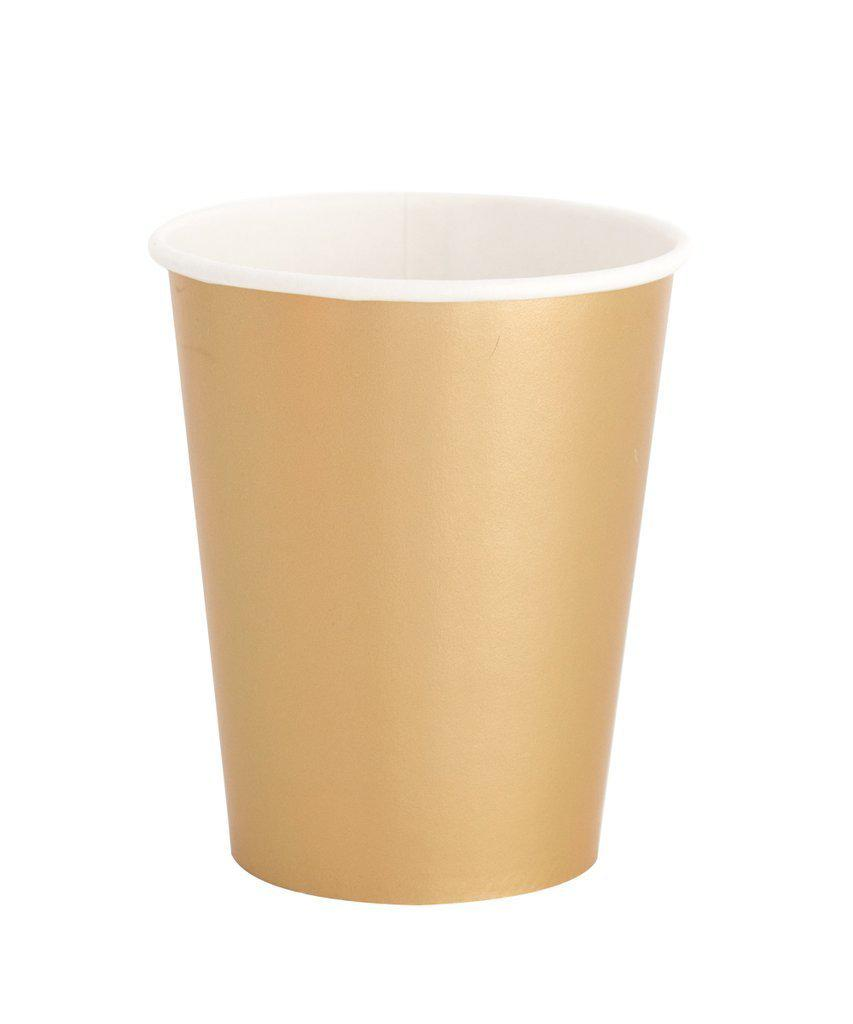 Gold Paper Party Cups-Party Love