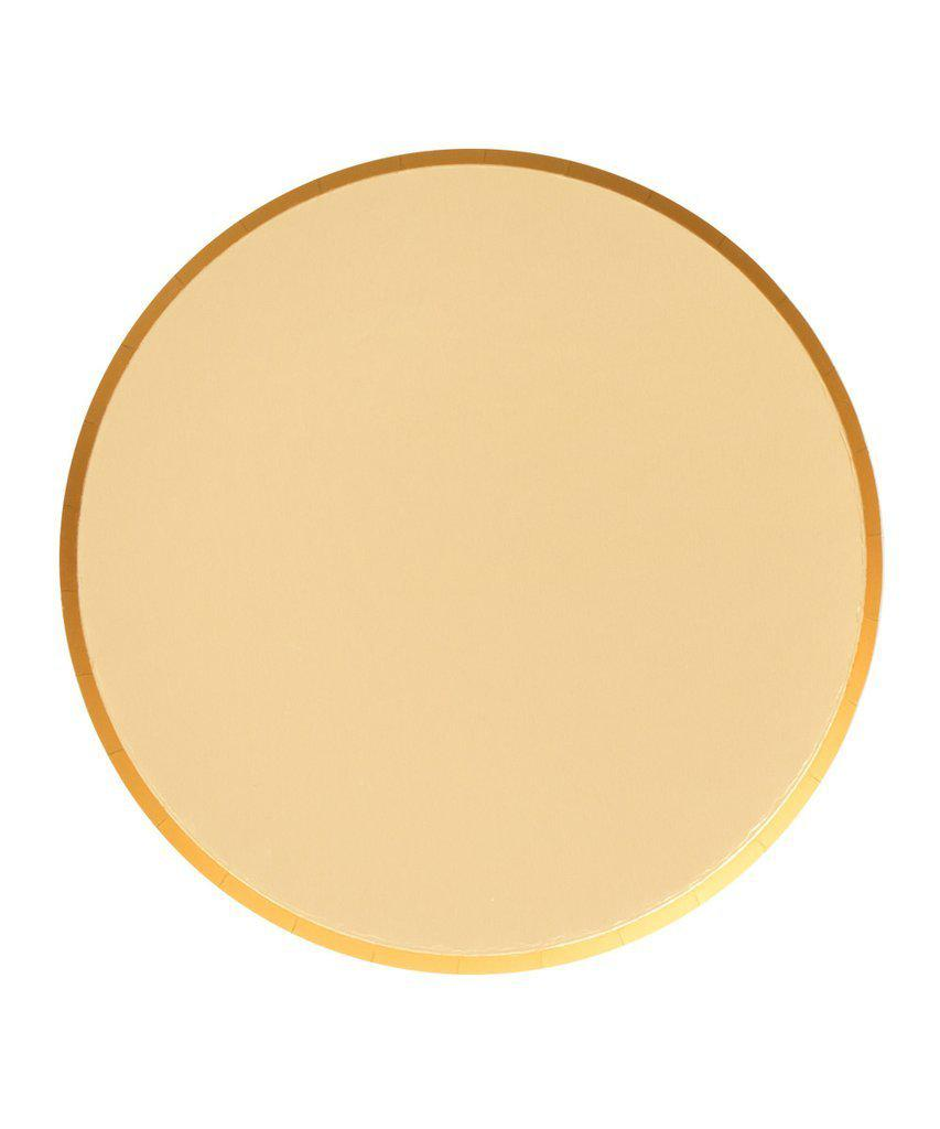Gold Paper Party Plates (Large)-Party Love