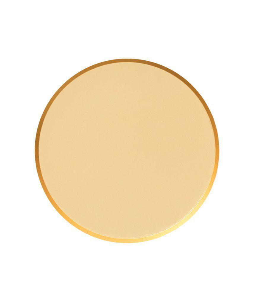 Gold Paper Party Plates (Small)-Party Love