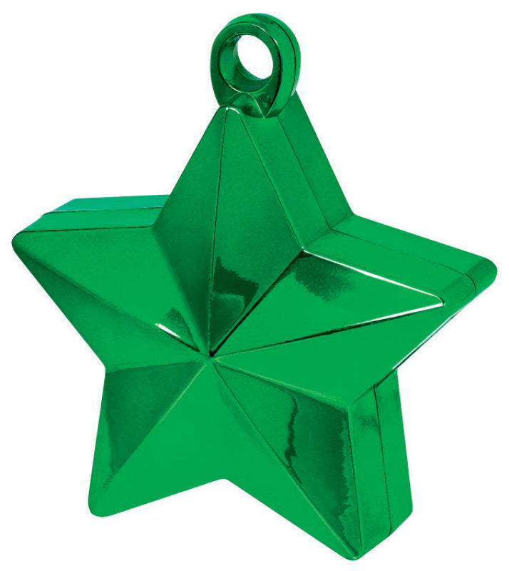 Green Star Balloon Weight-Party Love