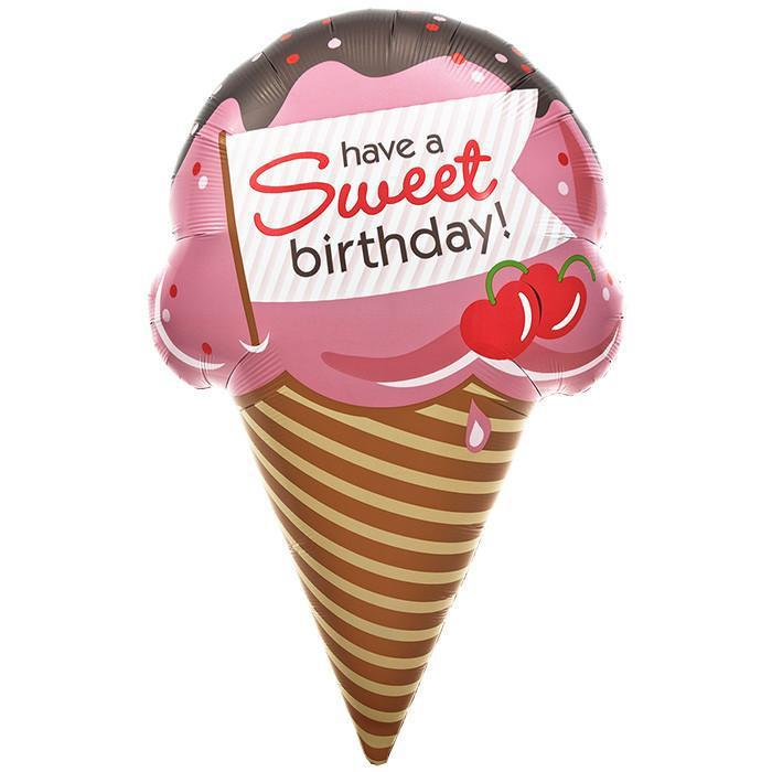 Have a Sweet Birthday IceCream Foil Balloon (94cm)-Party Love