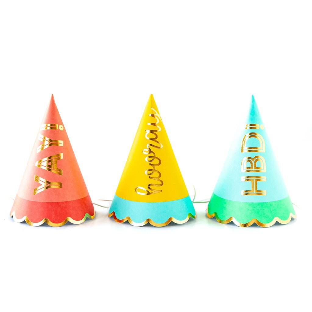 Hip Hip Hooray Party Hats-Party Love