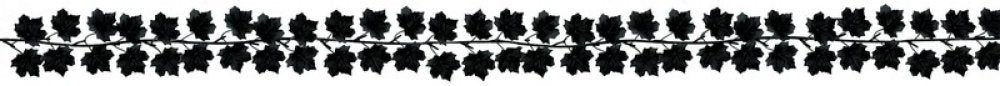 Halloween Black Leaves Garland 1.5m-Party Love