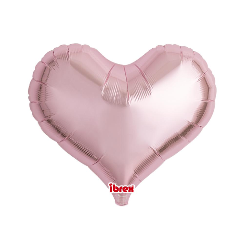 "IBREX Jelly Heart 25"" (63.5cm) Metallic Light Pink-Party Love"