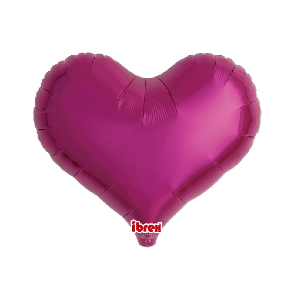 "IBREX JELLY HEART 14"" (36cm) Metallic Magenta-Party Love"
