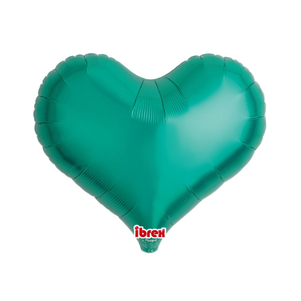 "IBREX JELLY HEART 14"" (36cm) Teal Green-Party Love"