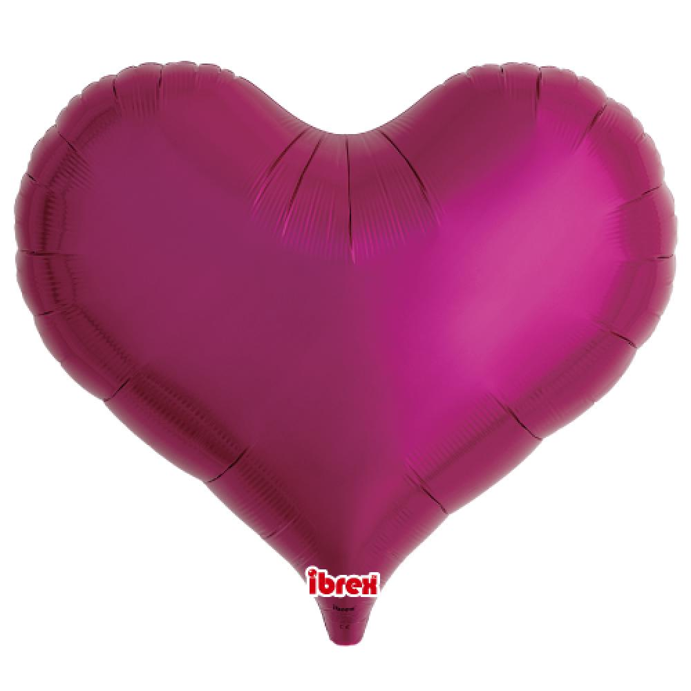 "IBREX JELLY HEART 25"" (63.5cm) METALLIC MAGENTA-Party Love"