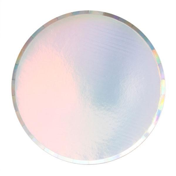 Iridescent Paper Party Plates (LARGE)-Party Love
