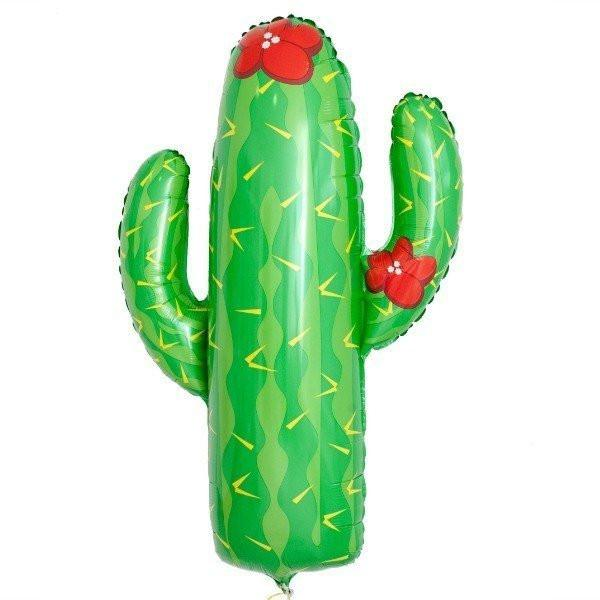 Jumbo Foil Cactus Balloon 104cm-Party Love