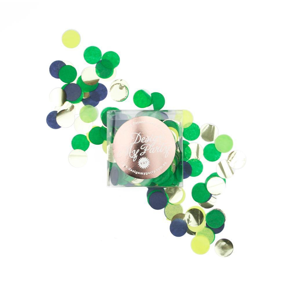 Jungle Glam Confetti - Limon, Kelly Green, Apple, Navy & Gold-Party Love