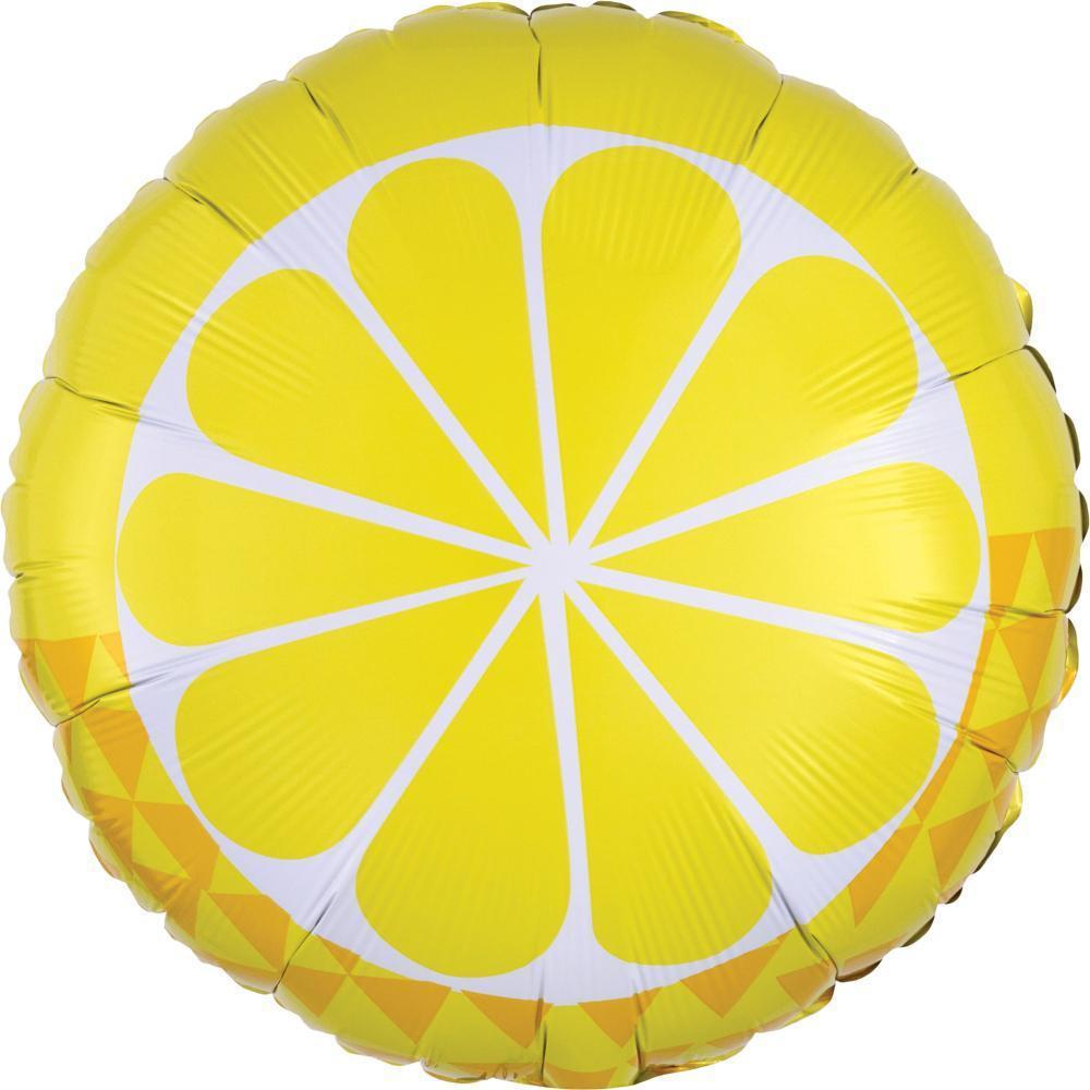 "Lemon Foil Balloon 18"" (46cm)-Party Love"