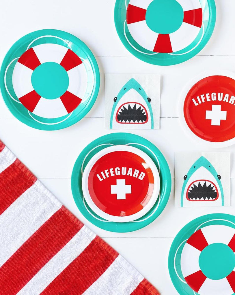 "Lifeguard 7"" Party Plates-Party Love"