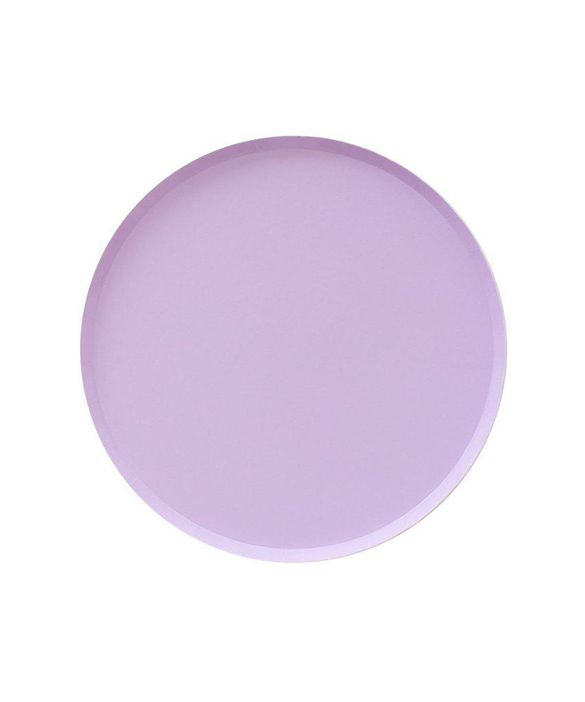 Lilac Paper Plates (Small)-Party Love