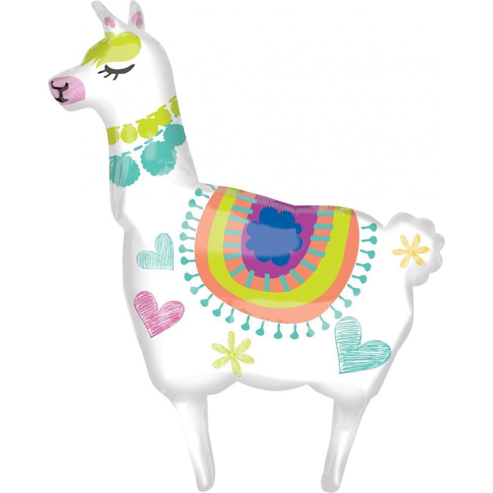 Llama Foil Balloon 104cm-Party Love