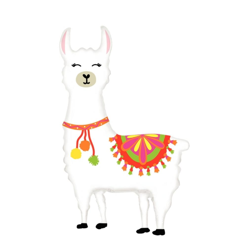 Llama Foil Balloon 114cm-Party Love