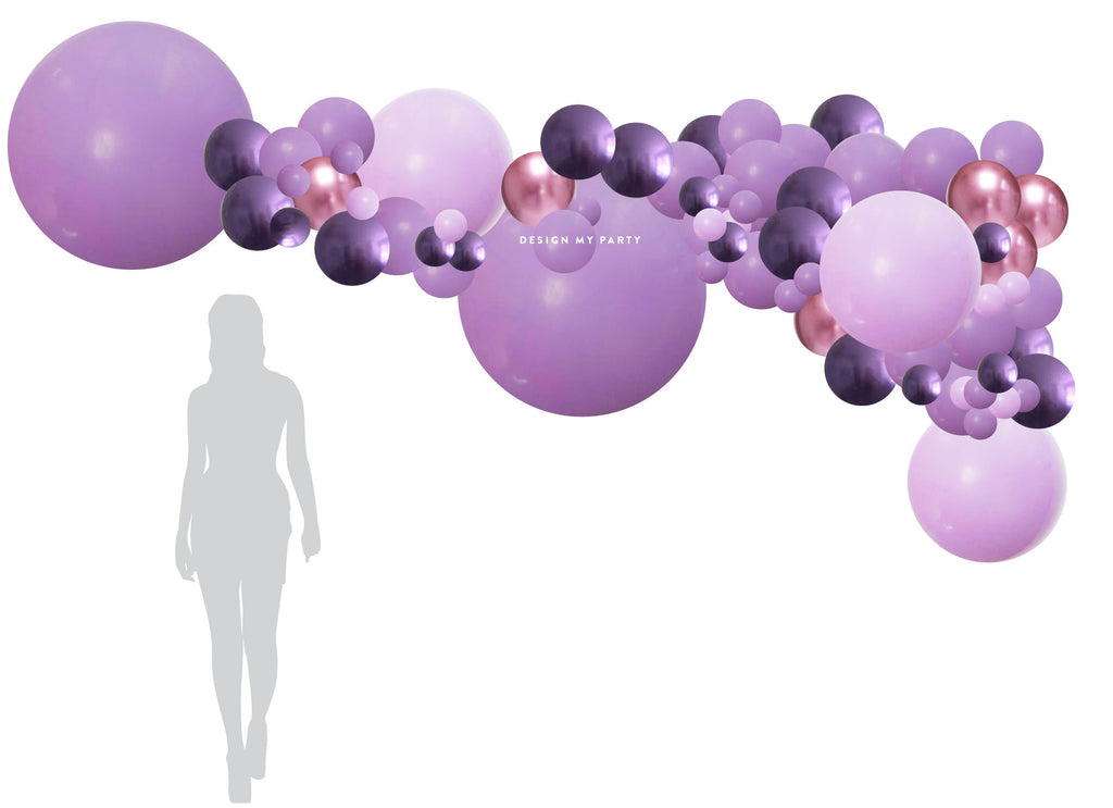 Lola Lilac Purple Balloon Garland (with pump) 3 meter BG13-Party Love