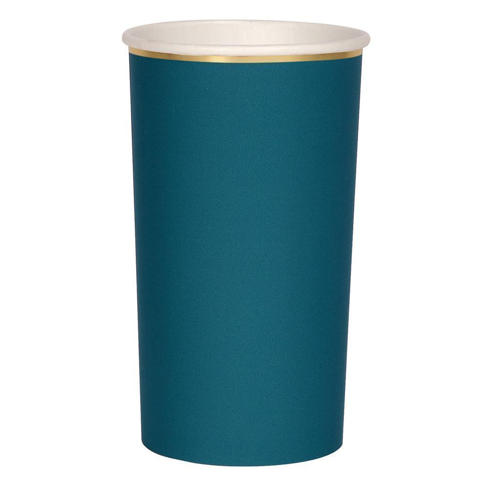 Meri Meri Dark Teal Highball Cups-Party Love