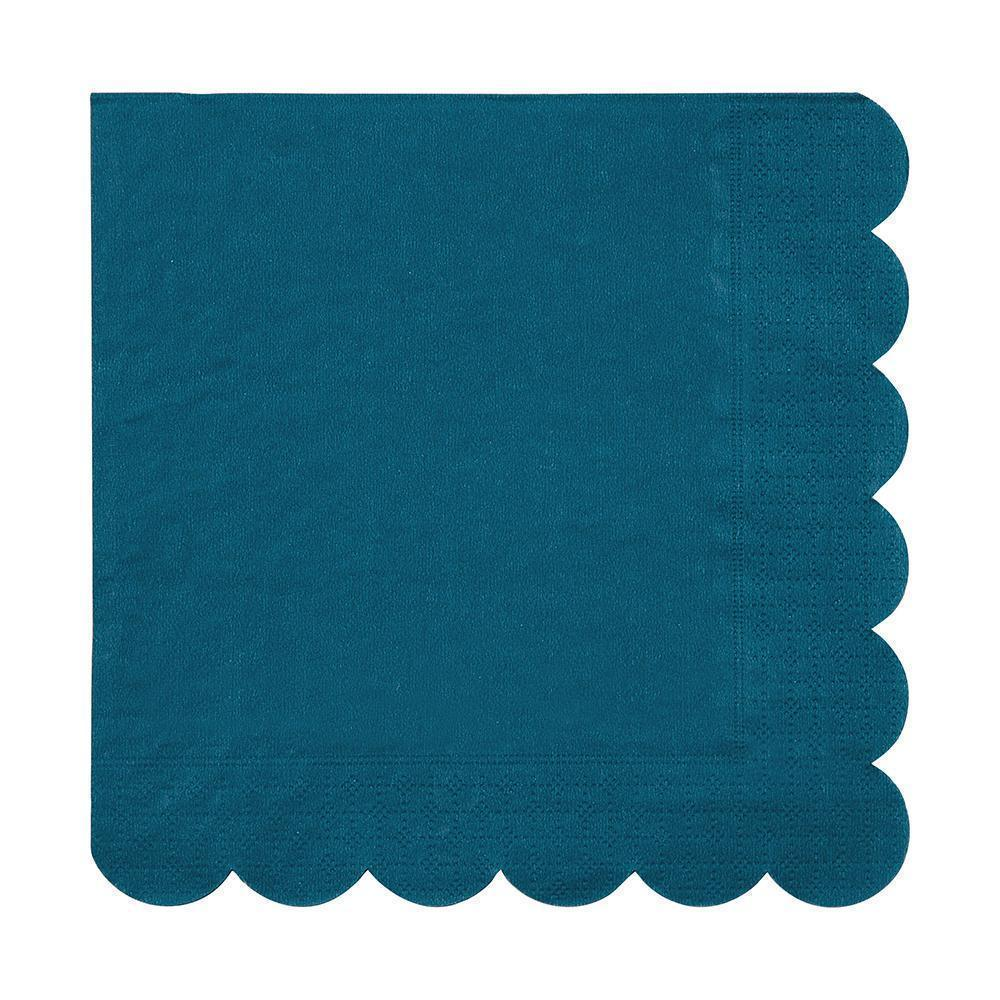 Meri Meri Dark Teal Large Napkins-Party Love