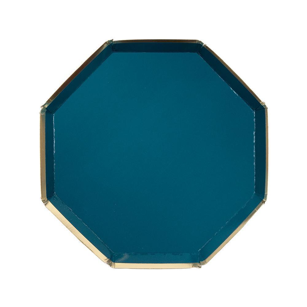 Meri Meri Dark Teal Side Party Plates-Party Love