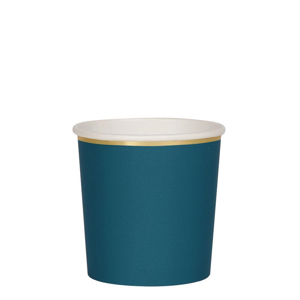 Meri Meri Dark Teal Tumbler Cups-Party Love