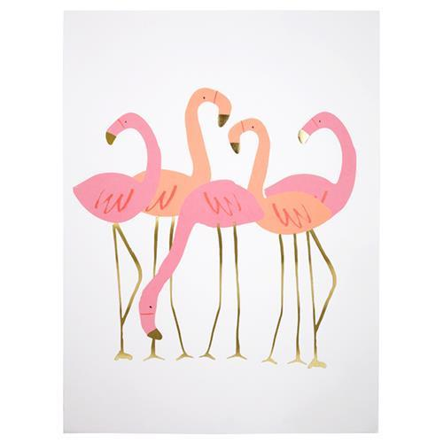 Meri Meri Flamingo Art Prints (2 Pack) (2 Designs)-Party Love