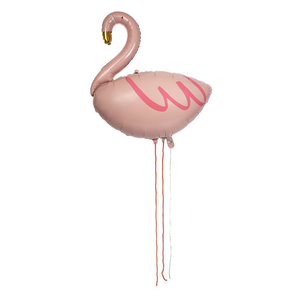 Meri Meri Flamingo Balloon Mylar Foil-Party Love