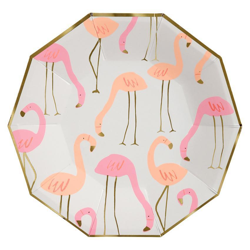 Meri Meri Flamingo Pattern Party Plates Large-Party Love
