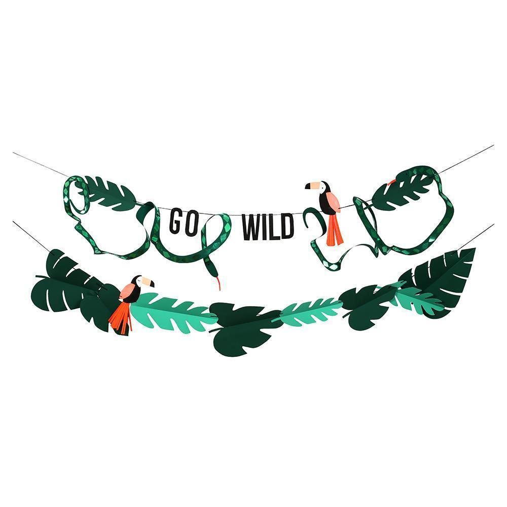 Meri Meri Go Wild Jungle Toucan Garland-Party Love