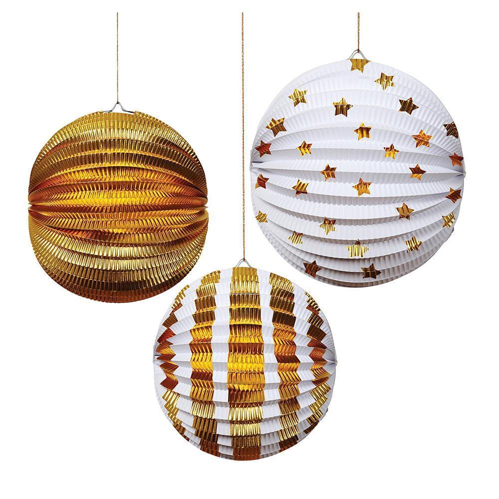 Meri Meri Gold Party Lanterns Decorations-Party Love