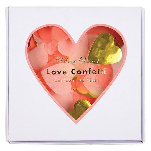 Meri Meri Gold Pink Confetti Hearts-Party Love