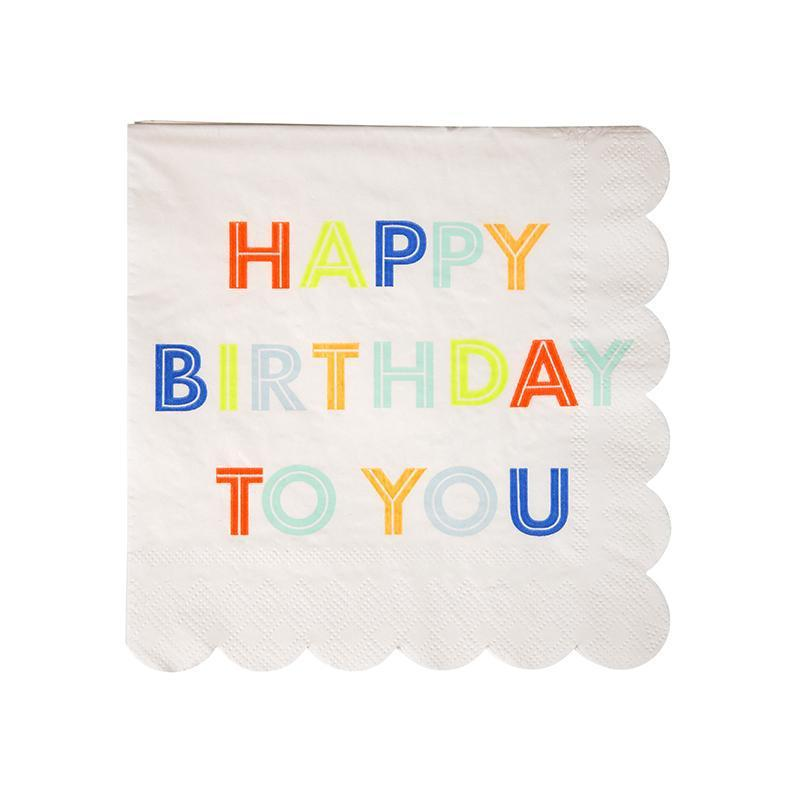 Meri Meri Happy Birthday Napkins-Party Love Australia