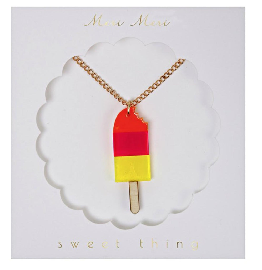 Meri Meri Ice Lolly Necklace, Icecream Popsicle-Party Love