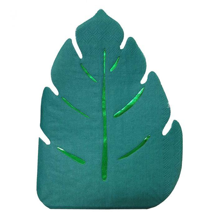 Meri Meri Jungle Leaf Napkins (Green)-Party Love