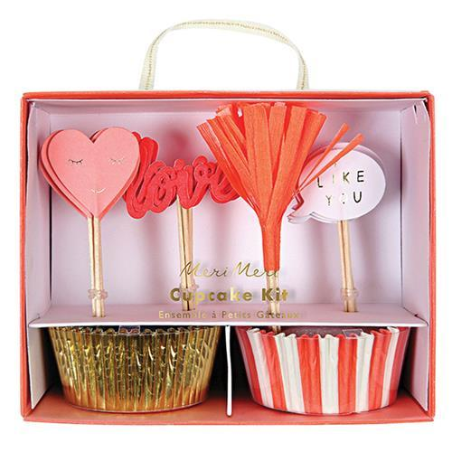 Meri Meri Love Cupcake Kit-Party Love