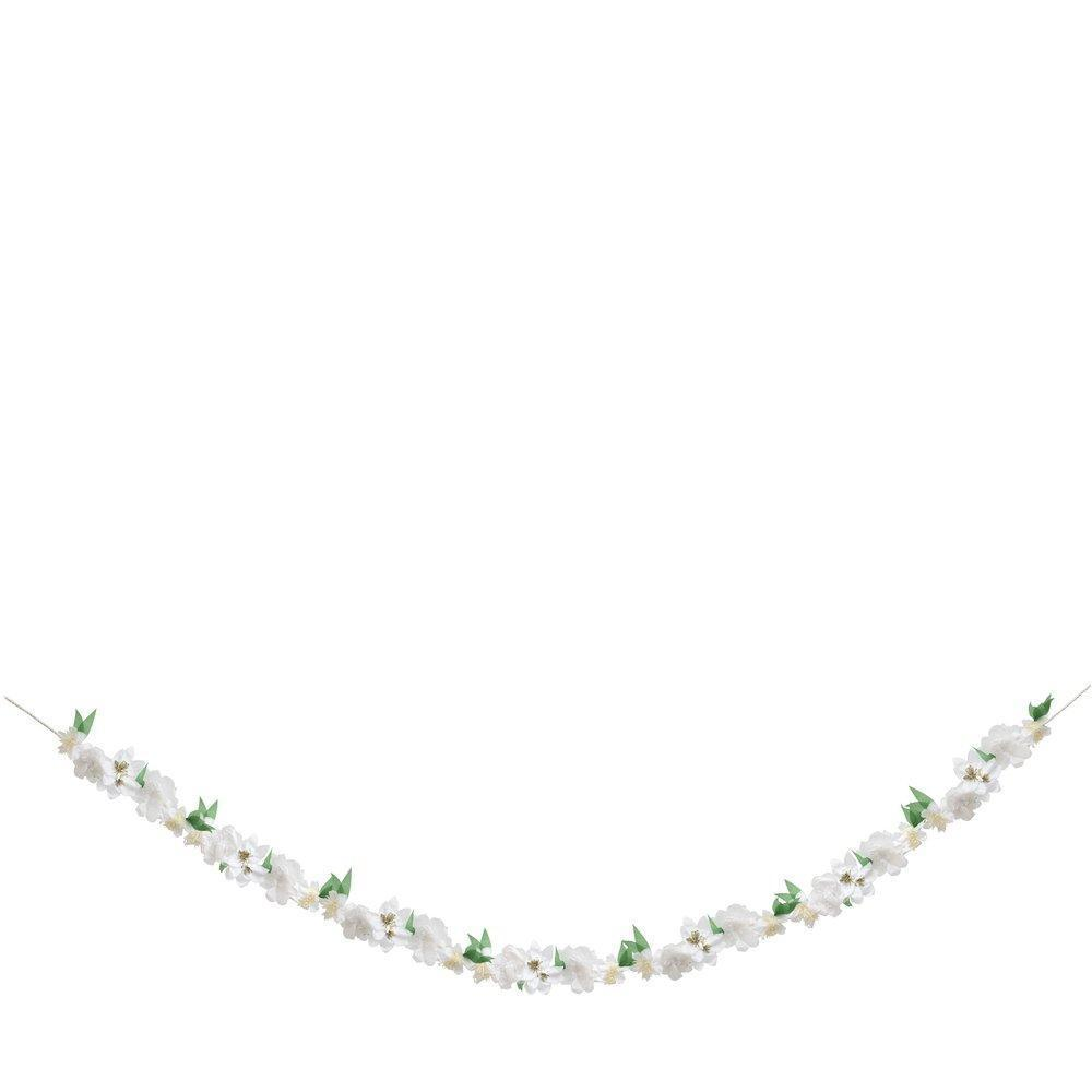 Meri Meri White Blossom Garland 3.5 Meters-Party Love