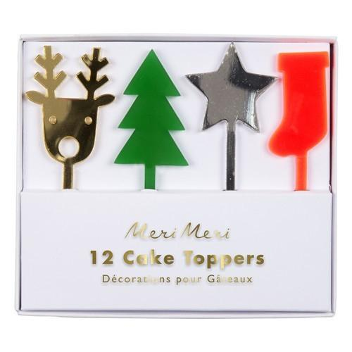 Xmas Icons Acrylic Cake Toppers-Party Love