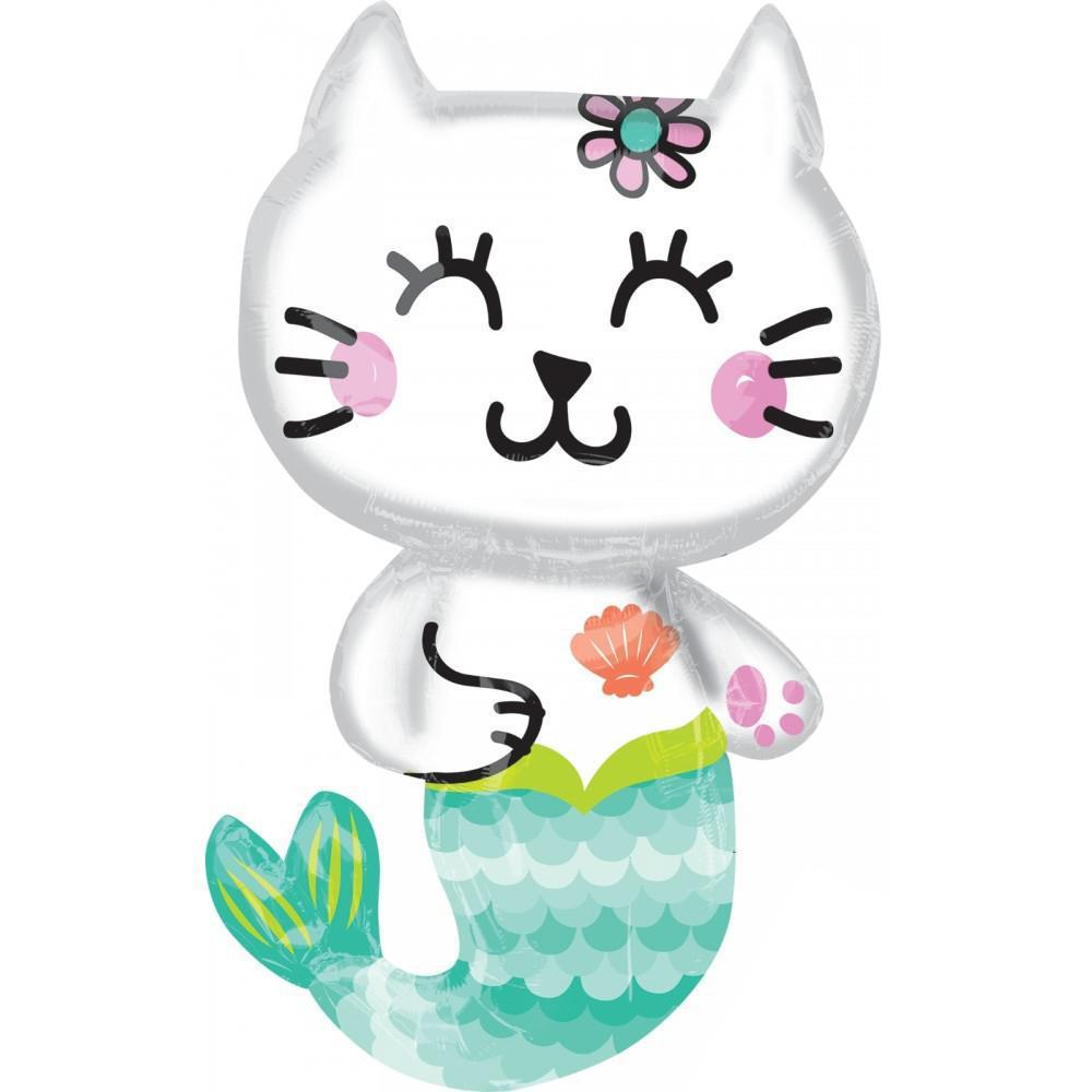 Mermaid Cat Foil Balloon-Party Love
