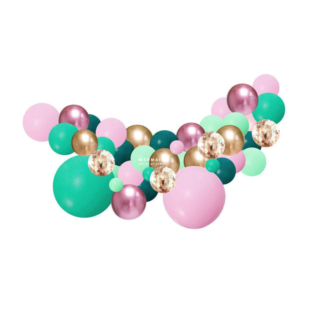 Mermaid Glam Balloon Garland 2 Meter PLBG012-Party Love