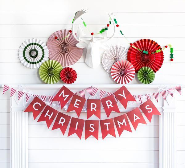 Merry Christmas Bunting Banner Flags-Party Love