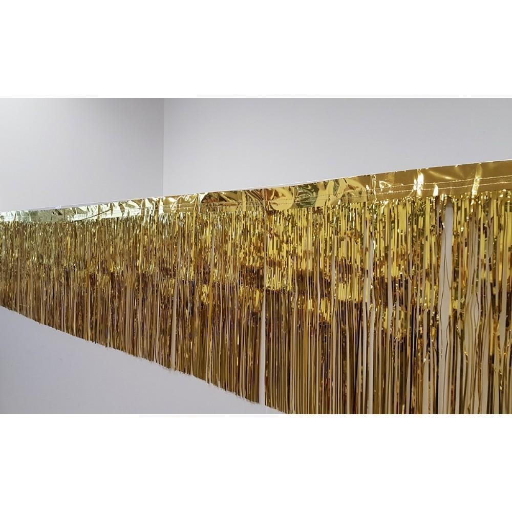 Metallic Gold Fringe (50cm x 2.5m)-Party Love