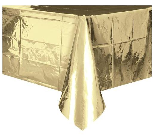 Metallic Gold Tablecover 137x274cm-Party Love