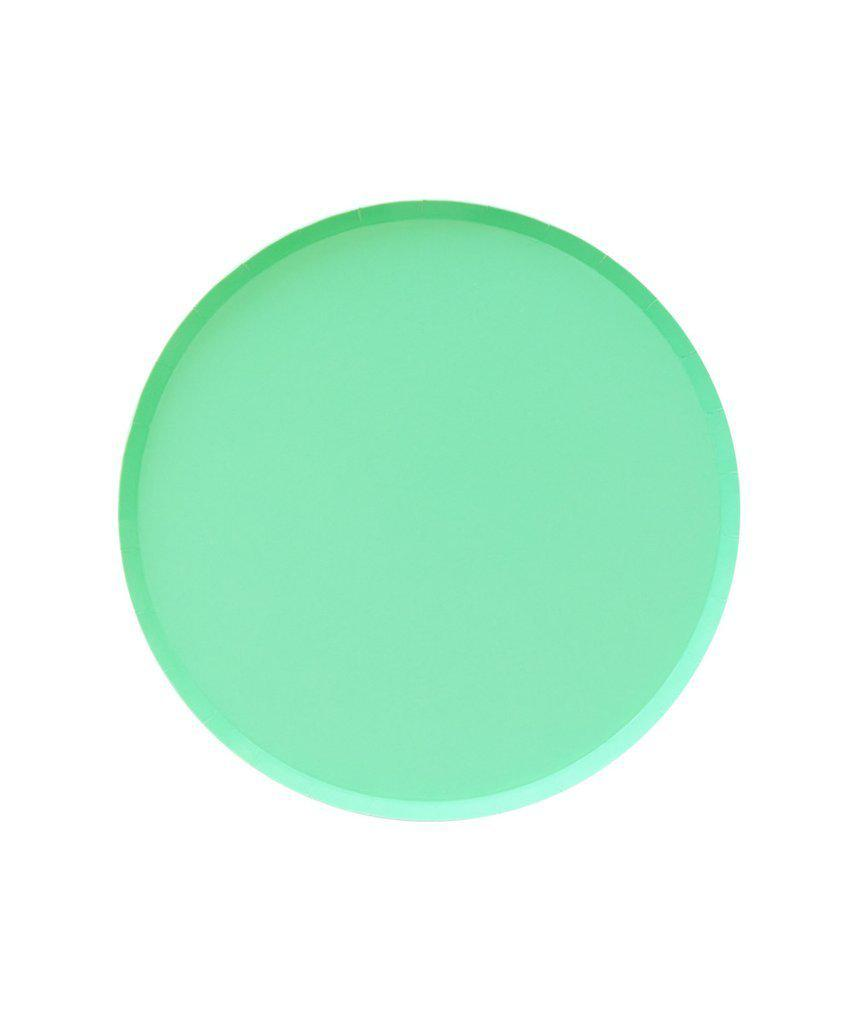 Mint Paper Party Plates (Small)-Party Love