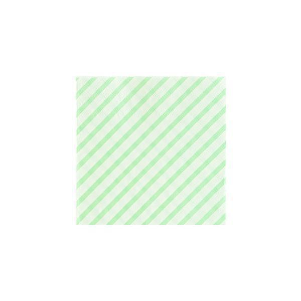 Mint stripe cocktail Napkins-Party Love