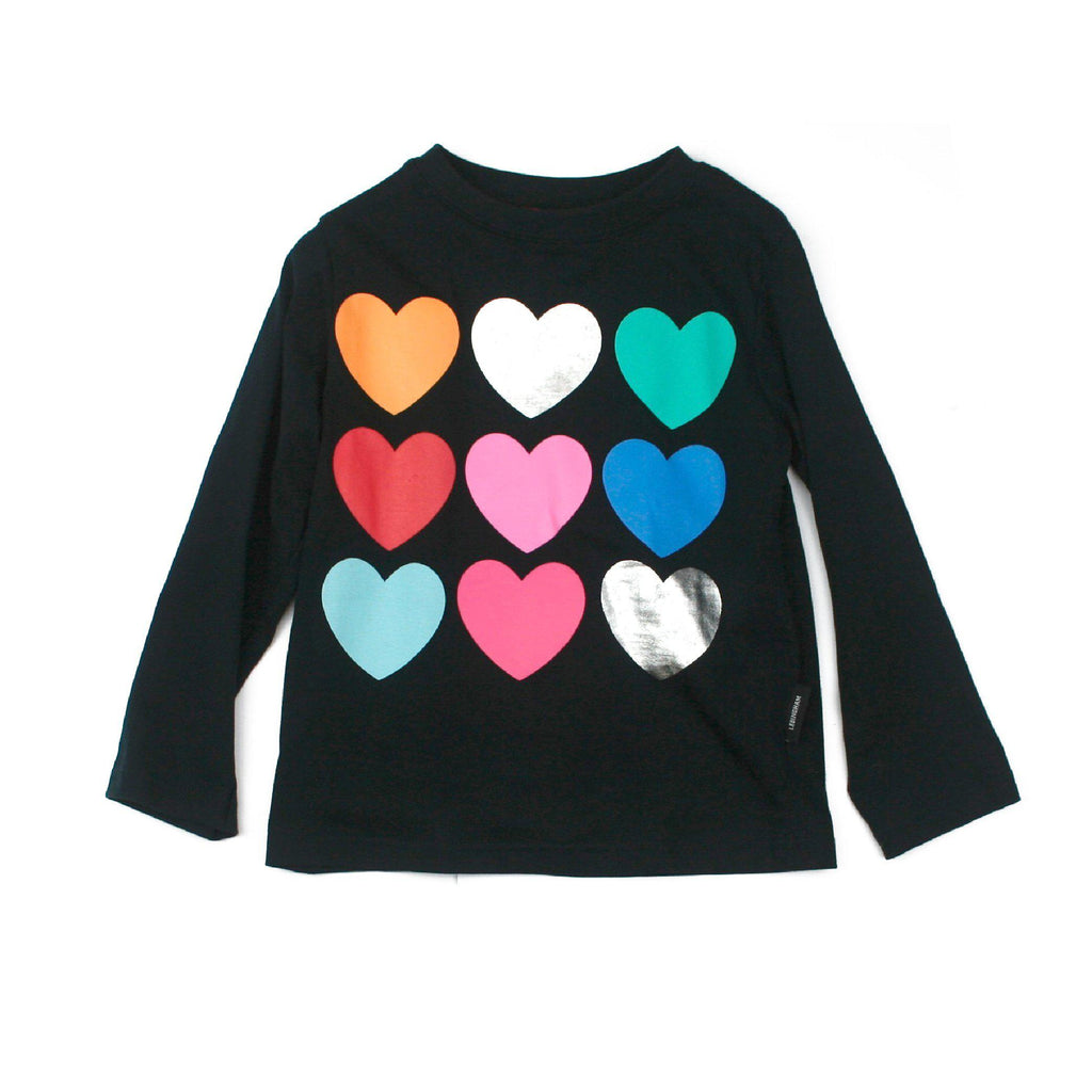 Navy Kids Heart Tshirt-Party Love
