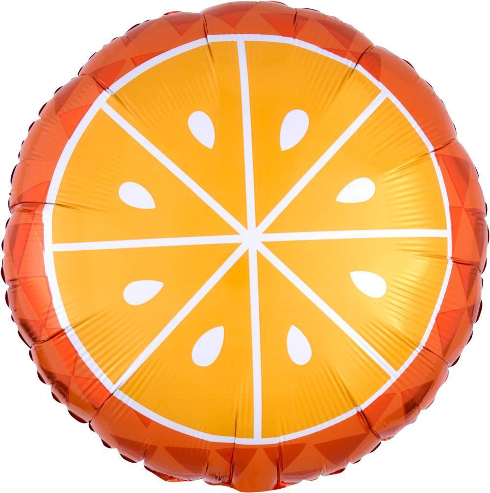 "Orange Foil Balloon 18"" (46cm)-Party Love"
