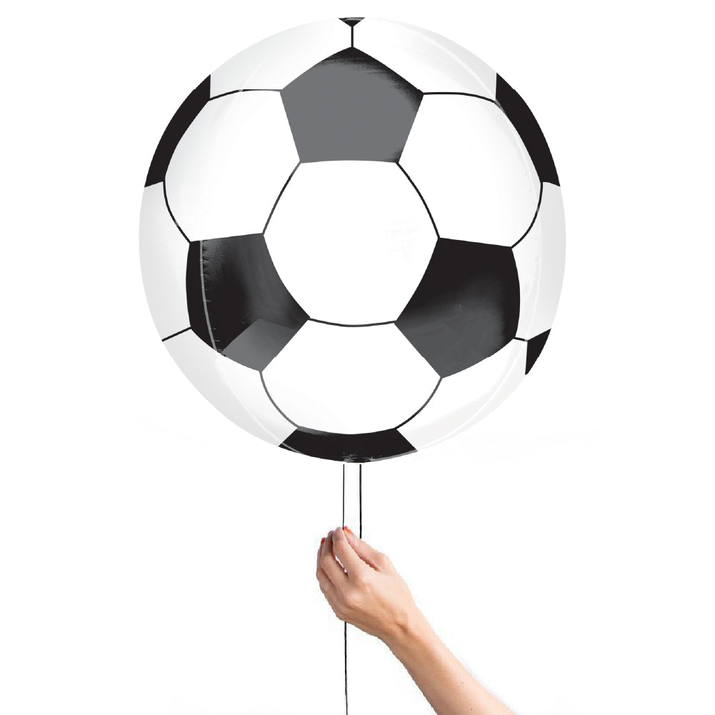 "Sport Soccer Ball Foil Balloon Orbz Round 40cm (16"")-Party Love"