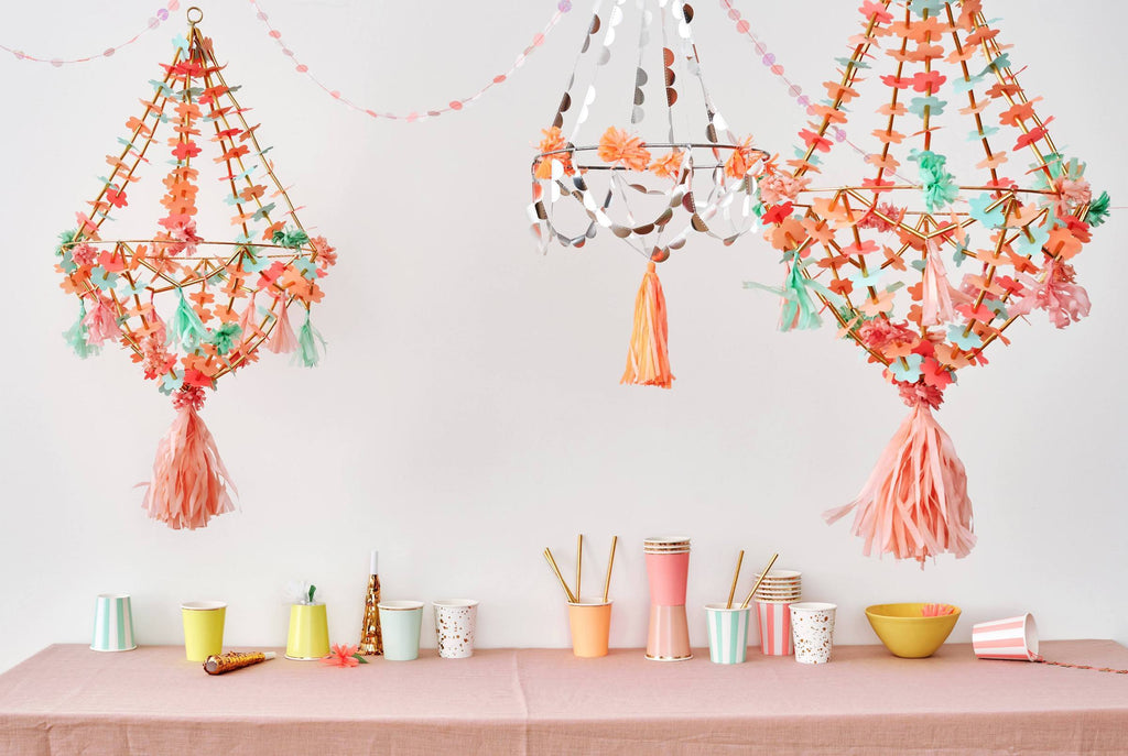 Pajaki Chandelier - Coral, Pink, Mint-Party Love