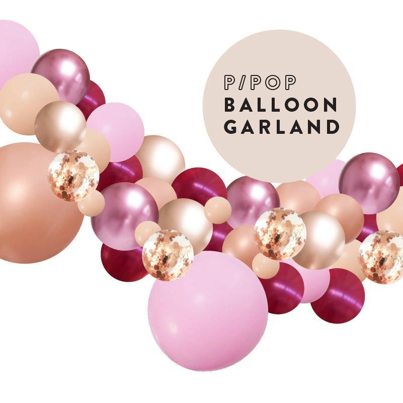 Passion Pop Pink Rose Gold Balloon Garland 2 Meter PLBG011-Party Love